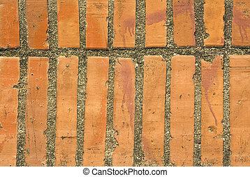 mur, bricks., arrière-plan rouge