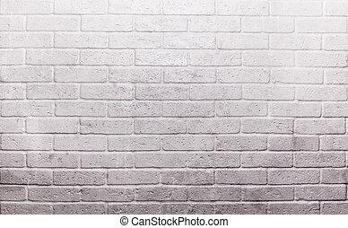 mur, brique, blanc