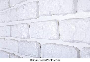 mur, brique blanche, fond