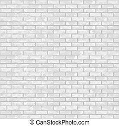 mur, brique blanche, seamless