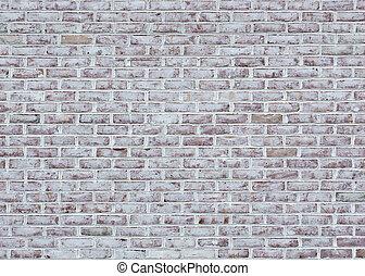 mur brique, blanchi