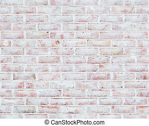 mur, brique, blanchi, texture