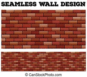 mur, brique, conception, seamless