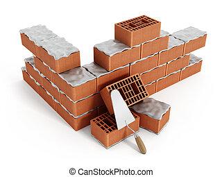 mur brique construction sous mur sur blanc isol clipart recherchez illustrations. Black Bedroom Furniture Sets. Home Design Ideas