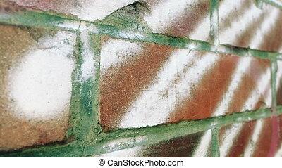 mur, brique, fil, coup, chariot