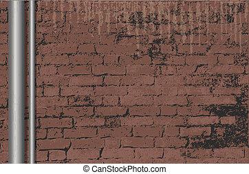 mur, brique, grunge