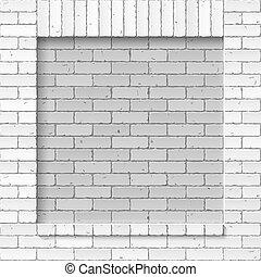 mur, brique, maçonnerie