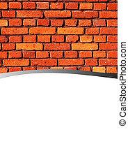 mur, brique, résumé, fond
