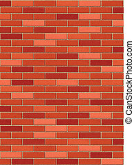mur, brique, vertical