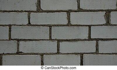 mur, brique, vieux
