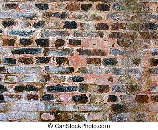 mur, brique, vieux, texture