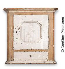 antiquit peint placard antiquit cupboard vieux peint main tiroirs bois portes fait. Black Bedroom Furniture Sets. Home Design Ideas