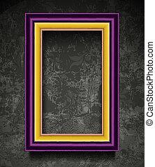 mur, cadre graphique, fachion, grunge