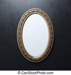 Dor cadre graphique miroir ovale ou dor cadre for Miroir graphique