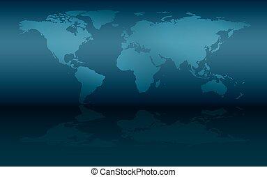 mur, carte, mondiale