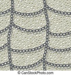 mur, chaîne, seamless, fond