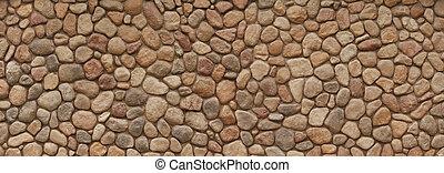 mur, champ, pierre