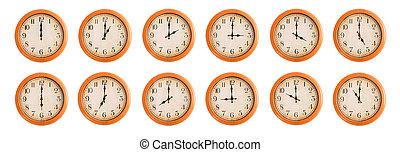 mur, clocks, ensemble, #1/4