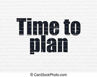 mur, concept:, plan, fond, temps