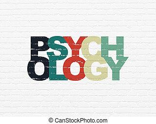 mur, concept:, santé, psychologie, fond