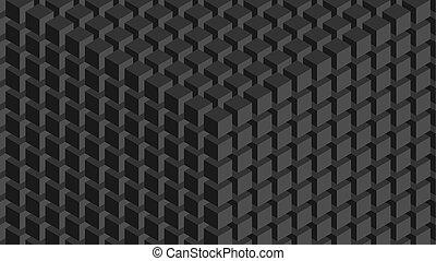 mur, cubes.
