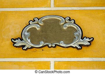 mur, décoratif, cadre