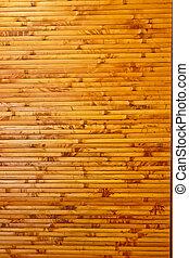 mur, décoration, bambou