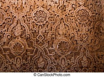 mur, découpage, alhambra