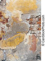 mur, détail, stuc