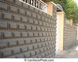 mur de siege d'une villa sis a la ville de Sale - Maroc -