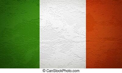 mur, drapeau, explosion, irlande