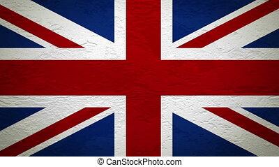 mur, drapeau, explosion, royaume-uni