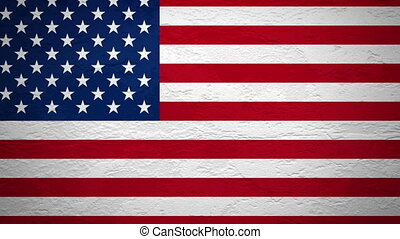 mur, drapeau, explosion, usa