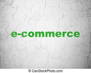 mur, e-commerce, concept:, fond, business