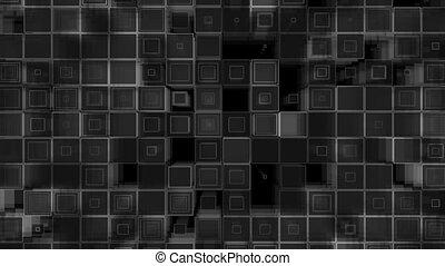 mur, faire boucle, carrée, 3d, élément