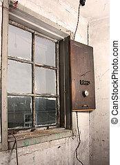 mur, fenêtre, vieux