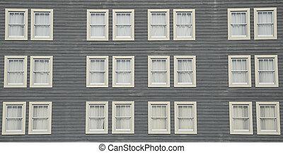 mur, fenetres