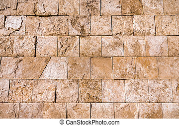 mur, fin, pierre, haut, travertin