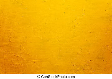 mur, fond, grunge, jaune, texture