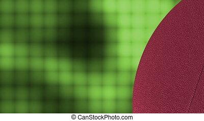 mur, football, carrée, vert, boucle