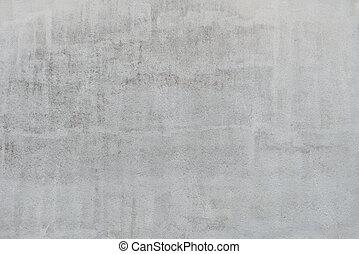 mur, gråne, tekstur, stuk, baggrund
