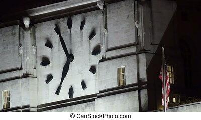 mur, grand, palais westminster, horloge