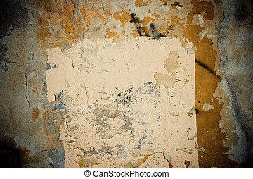 mur, grunge