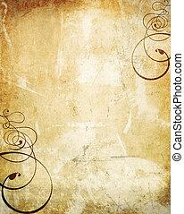 mur, grunge, tourbillons, vieux, texture