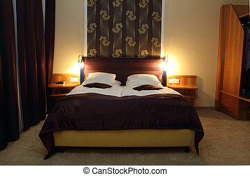 mur, hôtel, fleur, salle, papier peint