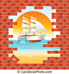 mur, hav udsigt
