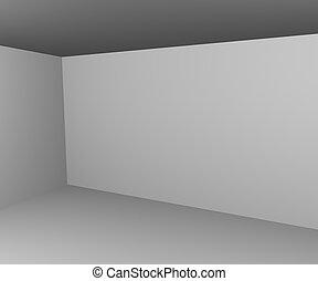 mur, intérieur, blanc