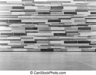 mur, intérieur, gris, plancher