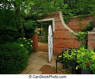 mur, jardin