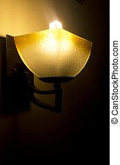 mur, lampe, moderne